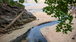 Anwasser am Ao Nang Strand