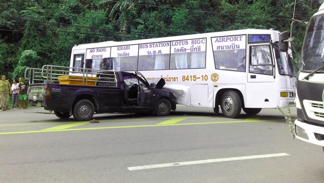 AIrport Bus Unfall in Ao Nang