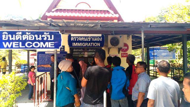 Kleiner Grenzposten bei Satun, Thailand
