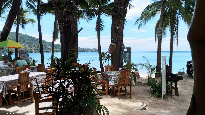 Beach Restaurant am Kamala Beach auf Phuket