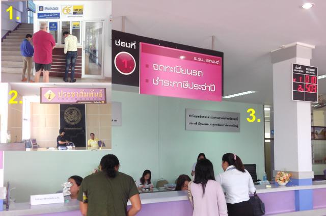 KFZ Steuern zahlen in Thailand
