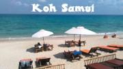 Der Strand vor unserem Resort am Lamai Beach
