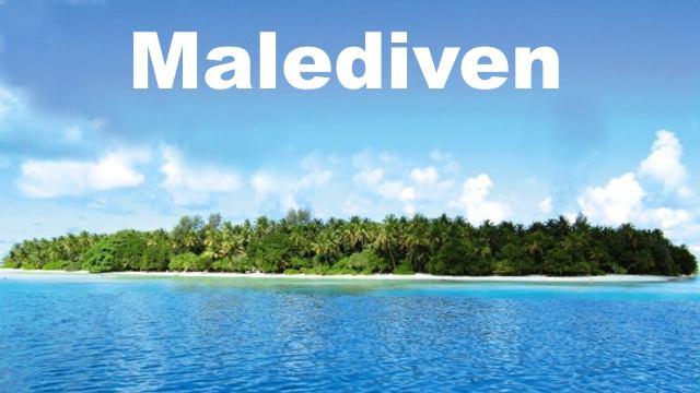 Eine Insel auf den Malediven