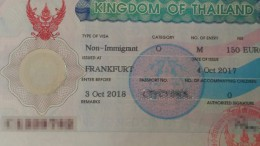 Thailand Non Immigrant Visum