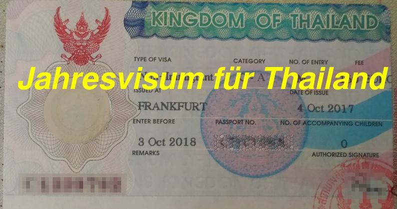 Non Immigrant Visum O-A, Thailand