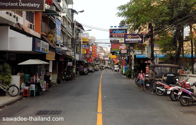 Straße in Pattaya