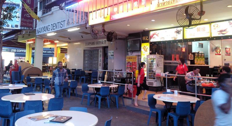 Chinatown Atmosphäre in Singapur