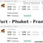 Neu: Frankfurt – Phuket – Frankfurt mit Thai Non Stop