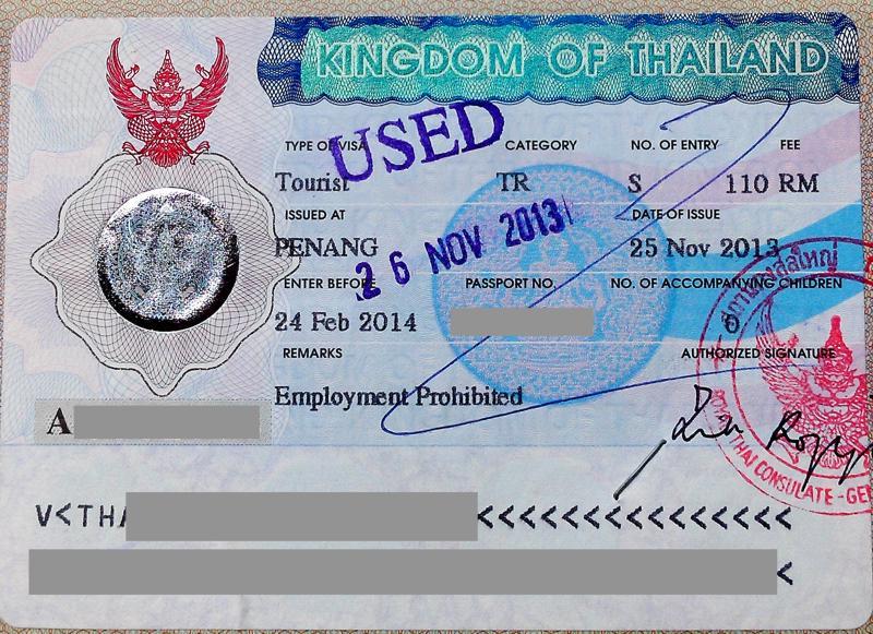 Touristenvisum für Thailand
