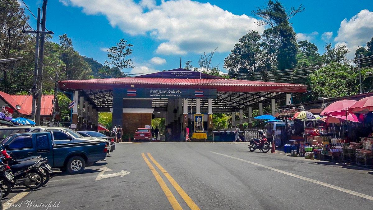 Wangprachan Grenzübergang nach Malaysia