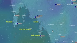 Windkarte für Phuket, Krabi, Koh Lanta & Co.